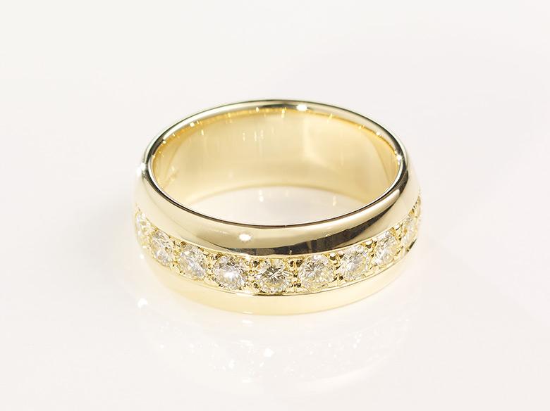 Brilliant Memoire Ring Breit Gold