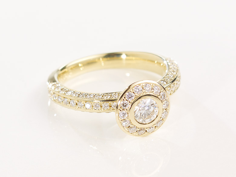 Brilliant Ring klein gold