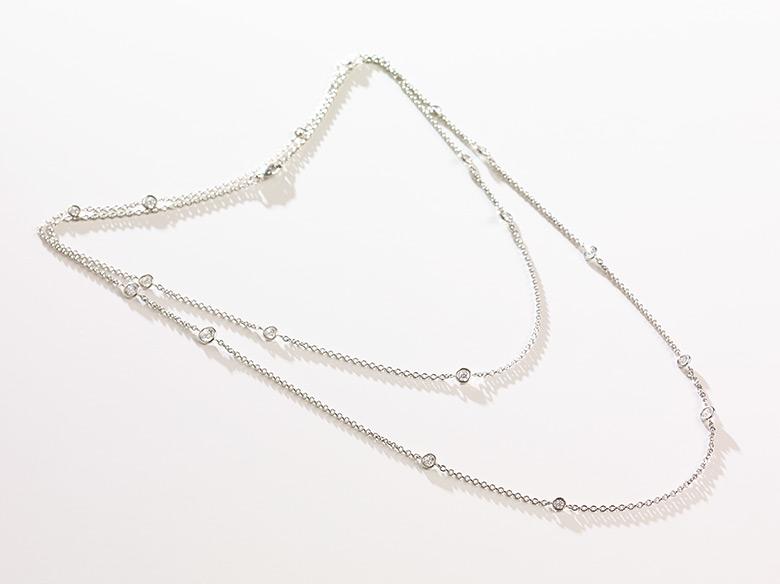 Tiffanykette weissgold