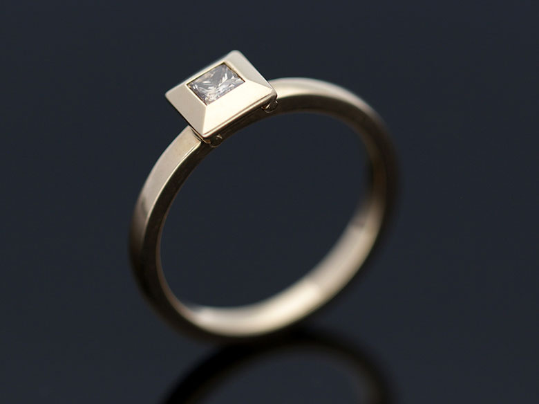 Verlobungsring Gold Brillant